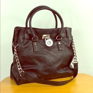 Michael Kors 🌺 Black Leather Hamilton Tote Bag